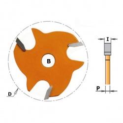 Griovelio frezavimo diskas 2,2 mm